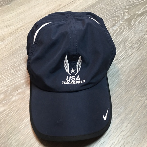Nike fit USA us track and field blue white hat